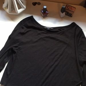 Cropped brandy Melville black long sleeve shirt